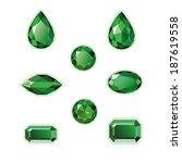 emeralds set different cut  ... | Shutterstock .eps vector #187619558