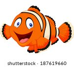 cute clown fish cartoon | Shutterstock .eps vector #187619660