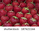 fresh strawberry on the clean... | Shutterstock . vector #187621166