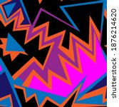 seamless urban abstract... | Shutterstock .eps vector #1876214620