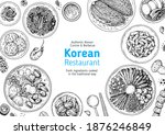 korean food top view... | Shutterstock .eps vector #1876246849