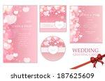 beautiful wedding invitation... | Shutterstock .eps vector #187625609
