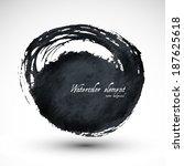 brush stroke circle texture.... | Shutterstock .eps vector #187625618