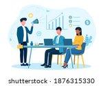 male businessman is motivating... | Shutterstock .eps vector #1876315330