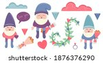 clip art with gnomes for... | Shutterstock .eps vector #1876376290