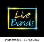 live bands colorful neon | Shutterstock . vector #187650869