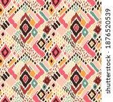 ikat geometric folklore... | Shutterstock .eps vector #1876520539