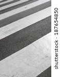 zebra crossing without anyone... | Shutterstock . vector #187654850