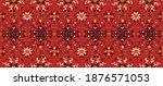 seamless floral pattern folk... | Shutterstock .eps vector #1876571053