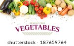 mixed vegetables on isolated... | Shutterstock . vector #187659764