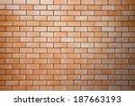 decorative red brick wall... | Shutterstock . vector #187663193