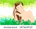 beautiful hair lady and... | Shutterstock .eps vector #187663910