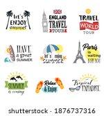 summer logos. summer time... | Shutterstock .eps vector #1876737316