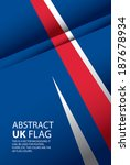 abstract uk  england flag ... | Shutterstock .eps vector #187678934