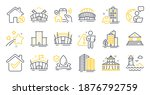 Set Of Buildings Icons  Such As ...