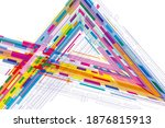 modern abstract background of... | Shutterstock . vector #1876815913
