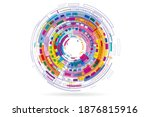 modern abstract background of... | Shutterstock . vector #1876815916