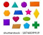 basic geometric shapes kids ...   Shutterstock .eps vector #1876839919
