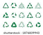 set recycle icons. label... | Shutterstock .eps vector #1876839943