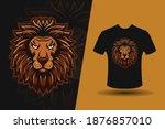 t shirt design of head lion...   Shutterstock .eps vector #1876857010
