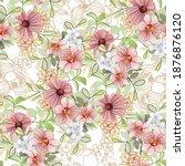 flower print. elegance seamless ...   Shutterstock .eps vector #1876876120
