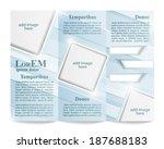 tri fold brochure template | Shutterstock .eps vector #187688183
