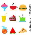 comic food vector | Shutterstock .eps vector #18769075