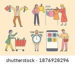customer character shopping.... | Shutterstock .eps vector #1876928296
