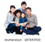 three generation asian family   Shutterstock . vector #187692920