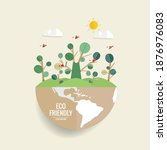 eco friendly. ecology concept... | Shutterstock .eps vector #1876976083