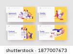 terminated contract landing... | Shutterstock .eps vector #1877007673
