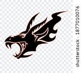 dragon head as a logo. isolated ... | Shutterstock .eps vector #1877010076