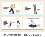corporate and office slavery...   Shutterstock .eps vector #1877011399