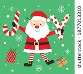 christmas joy and santa for... | Shutterstock .eps vector #1877013310