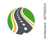 vector curved road logo... | Shutterstock .eps vector #1877020213