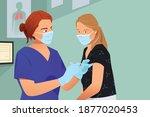 vaccine for people illustration ... | Shutterstock .eps vector #1877020453