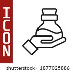 black line bottle with potion... | Shutterstock .eps vector #1877025886