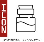 black line bottle with potion... | Shutterstock .eps vector #1877025943