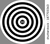 abstract black and white target ... | Shutterstock . vector #187703363