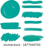 hand drawn blue color water...   Shutterstock . vector #1877040703