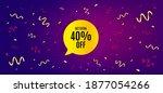 get 40 percent off bubble... | Shutterstock .eps vector #1877054266