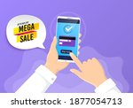 mega sale sticker. pay by...