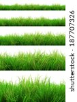 gorgeous green grass summer... | Shutterstock . vector #187707326