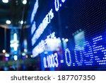 display of stock market quotes  | Shutterstock . vector #187707350