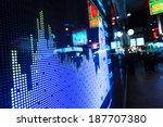 display of stock market quotes  | Shutterstock . vector #187707380