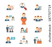 set of colorful business people ... | Shutterstock .eps vector #187707719