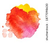 vector watercolor paint splash... | Shutterstock .eps vector #1877098630