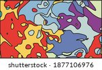 colorful abstract pattern with... | Shutterstock .eps vector #1877106976