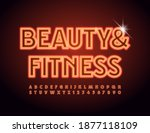 vector sign beauty and fitness... | Shutterstock .eps vector #1877118109