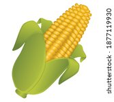 corn fruit emoji food vector... | Shutterstock .eps vector #1877119930